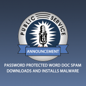 PSA: Don't Open SPAM Containing Password Protected Word Docs Image